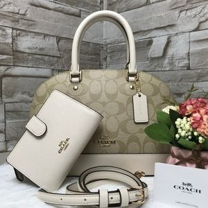 👜COACH SET🌺MINI SIERRA SATCHEL & WALLET
